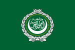 Arab League Flag (green with concentric wreath, chain, moon, and Arabic text for League of Arab States)
